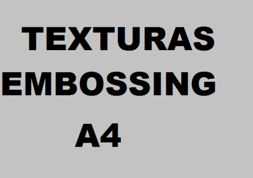 Texturas Embossing A4